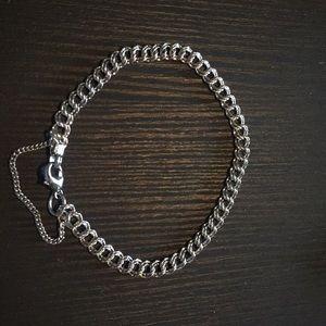 James Avery Light Double Curb Charm Bracelet